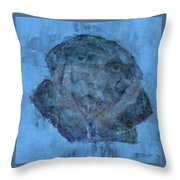 Indistincint Blues Throw Pillow