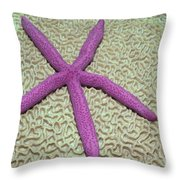 Indonesia, Pink Sea Star Throw Pillow