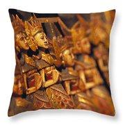 Indonesian Dolls Throw Pillow