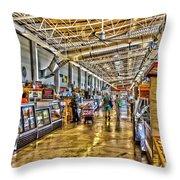 Indoor Market Throw Pillow by William Norton