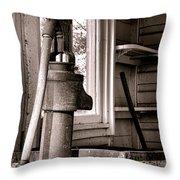 Indoor Plumbing Throw Pillow