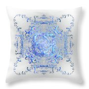 Indulgent Blue Lace Throw Pillow