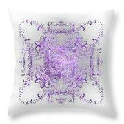 Indulgent Purple Lace Throw Pillow