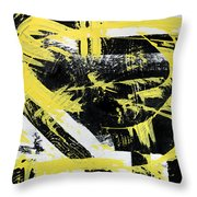 Industrial Abstract Painting I Throw Pillow