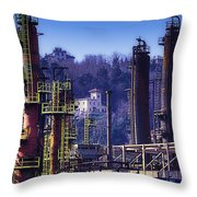 Industrial Archeology Refinery Plant 08 Throw Pillow