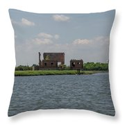 Industrial Banks Of The Charleston Harbor Throw Pillow