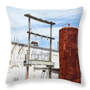 Industrial Building One Throw Pillow