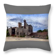 Industrial Cement Factory Throw Pillow