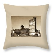 Industrial Decay Sepia 1 Throw Pillow