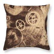 Industrial Gears Throw Pillow