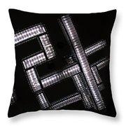 Industrial Geometric Design Throw Pillow