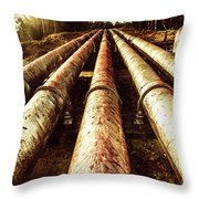 Industrial Hydro Architecture Throw Pillow