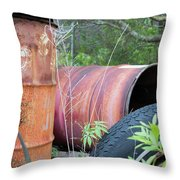 Industrial Leftovers Throw Pillow