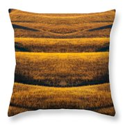 Industrial Prairie Throw Pillow