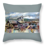 Industrial Recreation Park Throw Pillow
