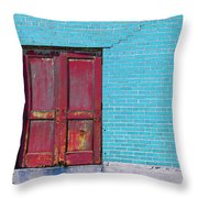 Industrial Red  Throw Pillow