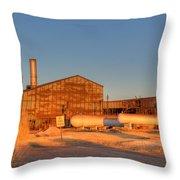 Industrial Site 1 Throw Pillow by Douglas Barnett
