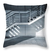 Industrial Stairway Throw Pillow