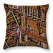 Industrial Storage And Distribution System Throw Pillow