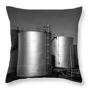 Industrial Storage Tanks Throw Pillow