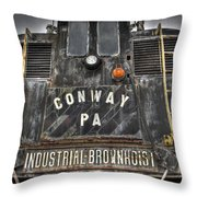 Industrial Workhorse Throw Pillow