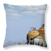 Industry Tank For Gas And Liquid Throw Pillow