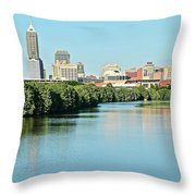 Indy White River View Throw Pillow
