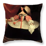 Inez De Zuniga - Countess Of Monterrey Throw Pillow