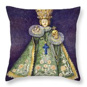 Infant Jesus Of Prague Throw Pillow