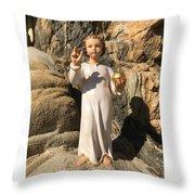 Infant Jesus Of Prague Throw Pillow