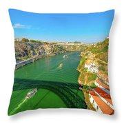 Infante Bridge Oporto Throw Pillow
