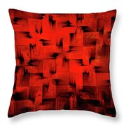 Inferno Throw Pillow by Silvia Ganora