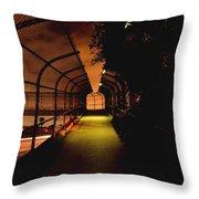 Infinite Bridge At Night Throw Pillow