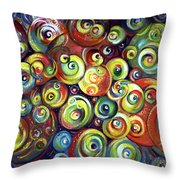 Infinite Cosmic - Abstract Throw Pillow