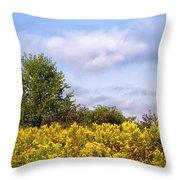 Infinite Gold Sunlight Landscape Throw Pillow