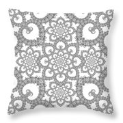 Infinite Lily In Black And White Throw Pillow