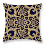 Infinite Lily In Navy Throw Pillow