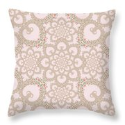 Infinite Lily In Pastels Throw Pillow