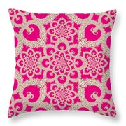 Infinite Lily In Pink Throw Pillow