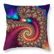 Infinite Rainbow Throw Pillow
