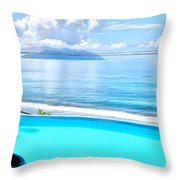 Infinity Pool And Ocean Throw Pillow