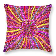 Infinity Star Flower An Abstract Fineart Expression By Navinjoshi At Fineartamerica.  Colorful Fun Throw Pillow
