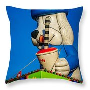 Inflated Temptation 2 Throw Pillow