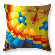Inflating The Balloon Throw Pillow