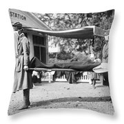 Influenza Epidemic, 1918 Throw Pillow
