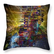 Infographics For Enlightenment In The New City Throw Pillow