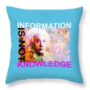 Information Is Not Knowledge Throw Pillow