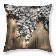 Infrared Botanical Sepia  Throw Pillow