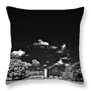 Infrared Farm Throw Pillow