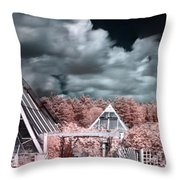 Infrared Glass Pyramids Panorama Throw Pillow